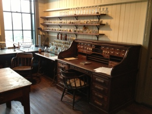 Chemistry Lab with original desk.