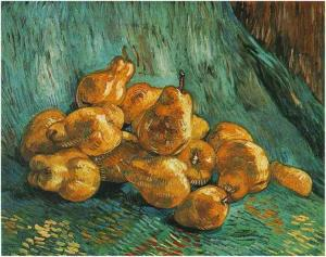 1887 -88, Vincent Van Gogh, Still Life with Pears Oil on Canvas Courtesy of Staatliche Kunstsammlungen Dresden